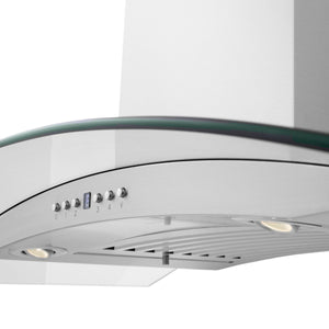 "ZLINE 42"" Stainless Steel & Glass Indoor Wall Range Hood, KN4-42 test"