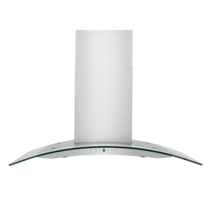 "ZLINE 42"" Stainless Steel & Glass Indoor Wall Range Hood, KN4-42"