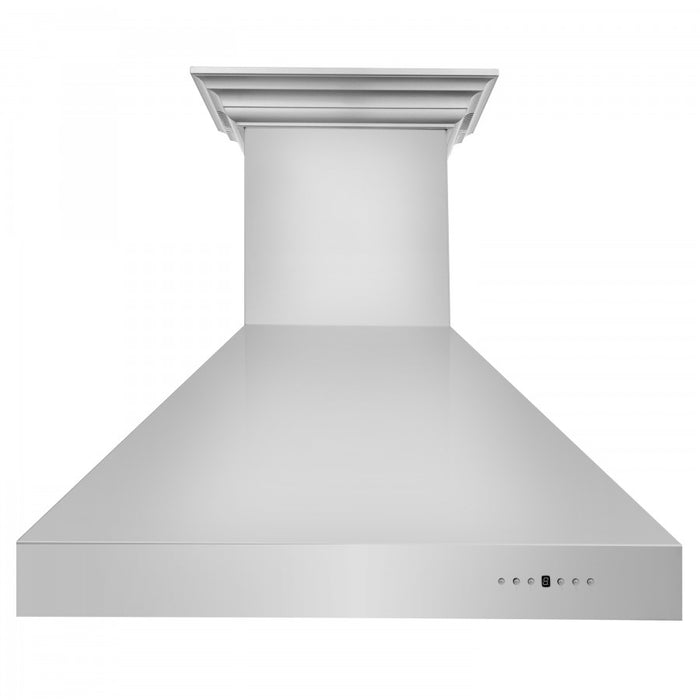 "ZLINE 54"" Stainless Steel Wall Range Hood with Built-in CrownSound® Bluetooth Speakers, 667CRN-BT-54"