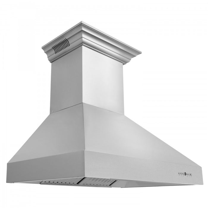 "ZLINE 60"" Stainless Steel Wall Range Hood with Built-in CrownSound® Bluetooth Speakers, 667CRN-BT-60"