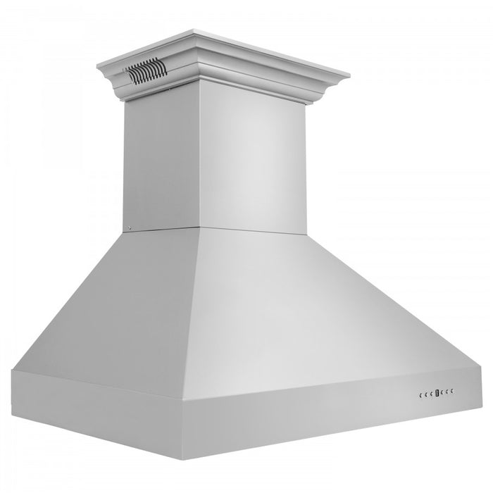 "ZLINE 36"" Stainless Steel Wall Range Hood with Built-in CrownSound® Bluetooth Speakers, 667CRN-BT-36"