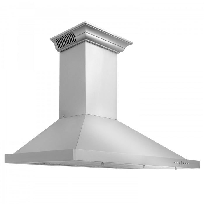 "ZLINE 24"" Stainless Steel Wall Range Hood with Built-in CrownSound® Bluetooth Speakers, KBCRN-BT-24"