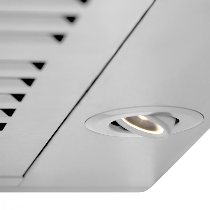 "ZLINE 48"" Stainless Steel Wall Range Hood with Built-in CrownSound® Bluetooth Speakers, KBCRN-BT-48"
