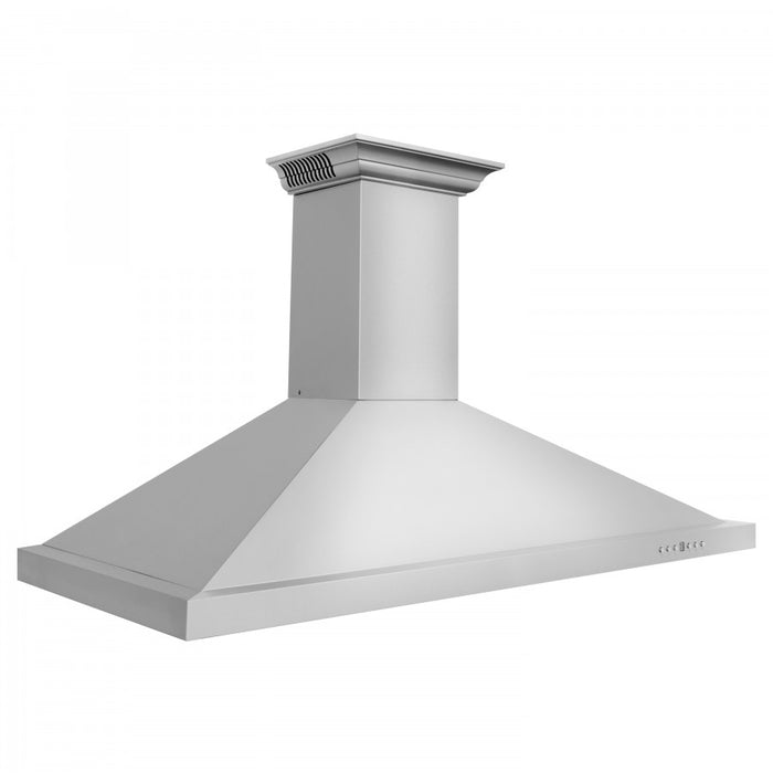 "ZLINE 42"" Stainless Steel Wall Range Hood with Built-in CrownSound® Bluetooth Speakers, KBCRN-BT-42"