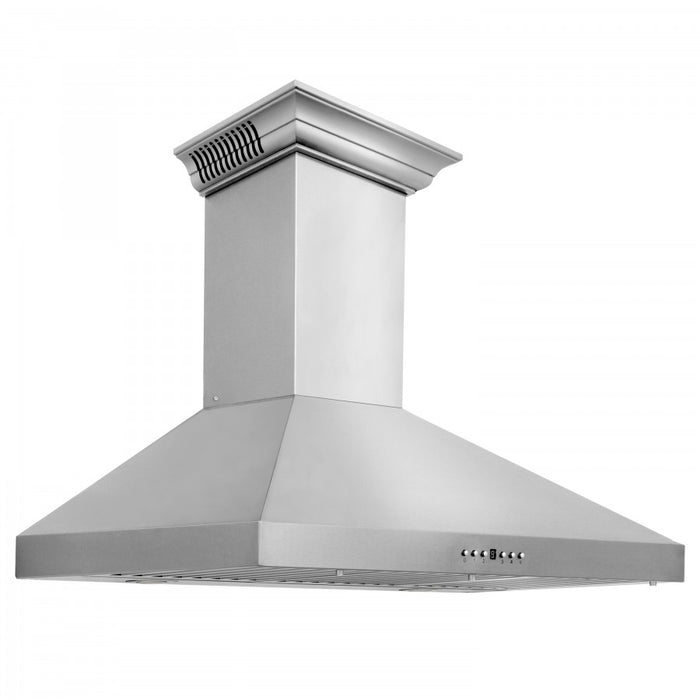"ZLINE 48"" Stainless Steel Wall Range Hood with Built-in CrownSound® Bluetooth Speakers, KL3CRN-BT-48"