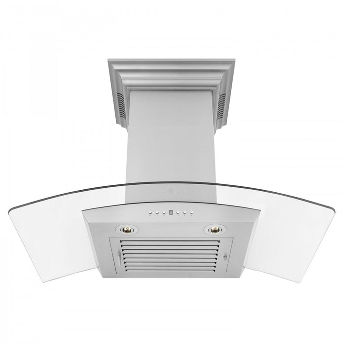 "ZLINE 30"" Stainless Steel Wall Range Hood with Built-in CrownSound® Bluetooth Speakers, KZCRN-BT-30"