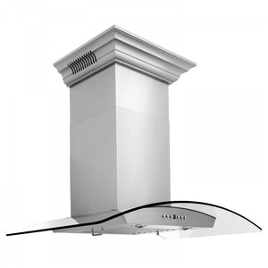 "ZLINE 30"" Stainless Steel Wall Range Hood with Built-in CrownSound® Bluetooth Speakers, KZCRN-BT-30 test"