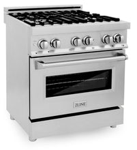 "ZLINE 30"" Professional Gas Burner/Electric Oven Stainless Steel Range, RA30"