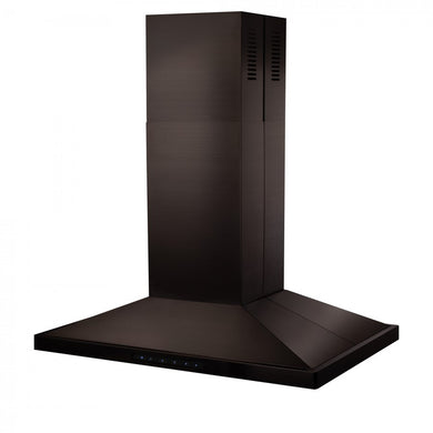 "ZLINE 36"" 400 CFM Island Range Hood in Black Stainless Steel, BSGL2iN-36"