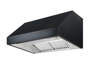 zline-black-under-cabinet-range-hood-8685b-side-under test