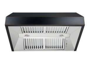 zline-black-under-cabinet-range-hood-8685b-vents test