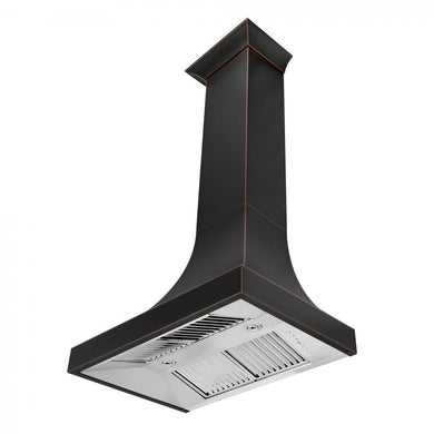 "ZLINE 36"" Designer Series Oil-Rubbed Bronze Wall Range Hood, 8632B-36"