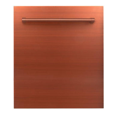 "ZLINE 24"" Top Control Dishwasher in Copper with Stainless Steel Tub and Traditional Style Handle, DW-C-H-24"