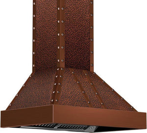 zline-copper-wall-mounted-range-hood-655-ecccc-side-under test