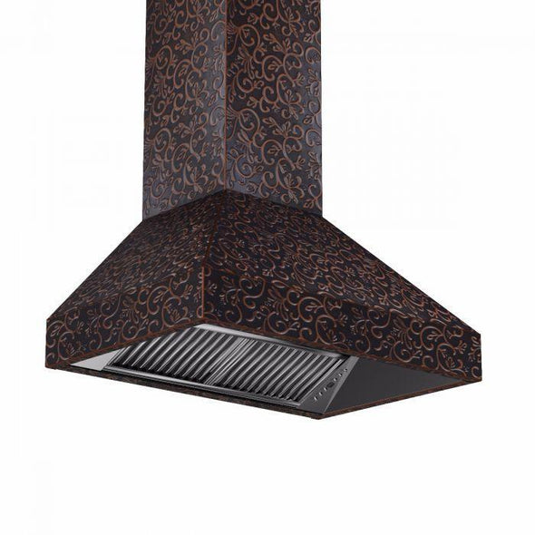 zline-copper-wall-mounted-range-hood-8667f-side-under