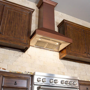 "ZLINE 48"" Copper Wall Range Hood with Crown Molding, 8667C-48 test"