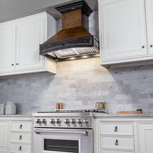 "ZLINE 30"" Wooden Wall Mount Range Hood in Antigua and Walnut, 321AR-30"