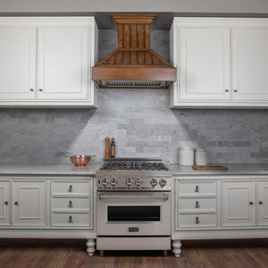 "ZLINE 30"" Designer Shiplap Wooden Wall Mount Range Hood in Rustic Light Finish, 349LL-30 test"