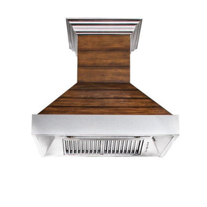 zline-designer-wood-range-hood-365bb-kitchen-front-under test
