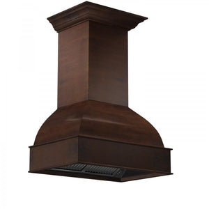 "ZLINE 30"" Designer Wooden Wall Mount Range Hood in Walnut and Hamilton, 369WH-30"