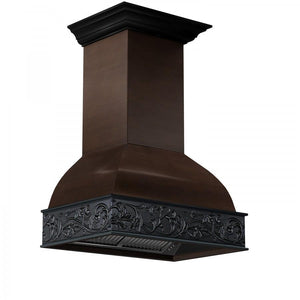 "ZLINE 36"" Designer Wooden Wall Mount Range Hood in Antigua and Hamilton, 393AH-36"