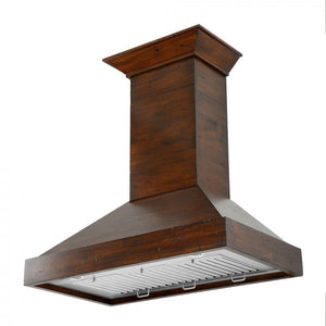 "ZLINE 48"" Designer Wooden Wall Mount Range Hood in Walnut, KBRR-48"
