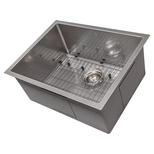ZLINE Meribel 23 Inch Undermount Single Bowl Sink in DuraSnow® Stainless Steel, SRS-23S