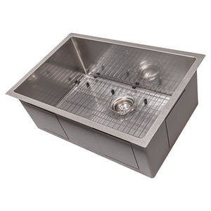 ZLINE Meribel 27 Inch Undermount Single Bowl Sink in DuraSnow® Stainless Steel, SRS-27S