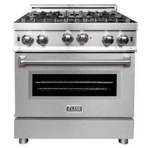 ZLINE 30 in. Professional Gas on Gas Range in Stainless Steel with DuraSnow® Stainless Door, RG-SN-30 test
