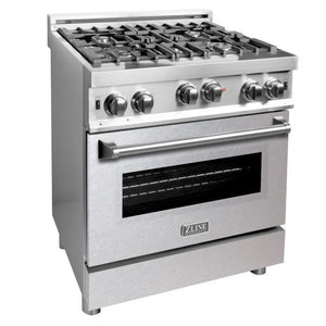 ZLINE 30 in. Professional Gas on Gas Range in Stainless Steel with Snow Stainless Door, RG-SN-30
