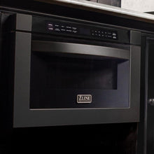 "ZLINE 24"" 1.2 Cu. Ft. Microwave Drawer In Black Stainless Steel, MWD-1-BS"