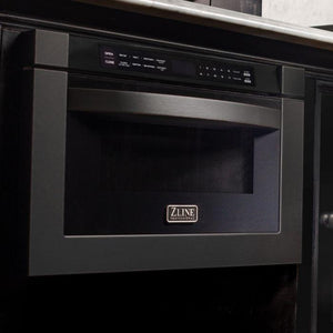 "ZLINE 24"" 1.2 Cu. Ft. Microwave Drawer In Black Stainless Steel, MWD-1-BS test"