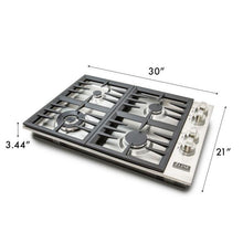 ZLINE 30 in. Dropin Cooktop with 4 Gas Burners RC30-5