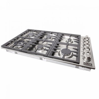 ZLINE 36 in. Dropin Cooktop with 6 Gas Burners RC36