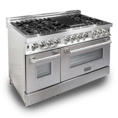 "ZLINE 48"" Professional Dual Fuel Range with Snow Finish Door, RA-SN-48"