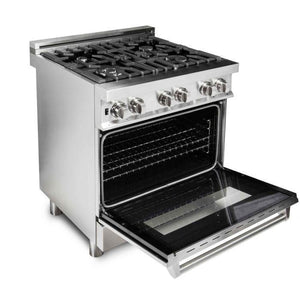 "ZLINE 30"" Professional Gas Burner/Electric Oven Stainless Steel Range, RA30 test"