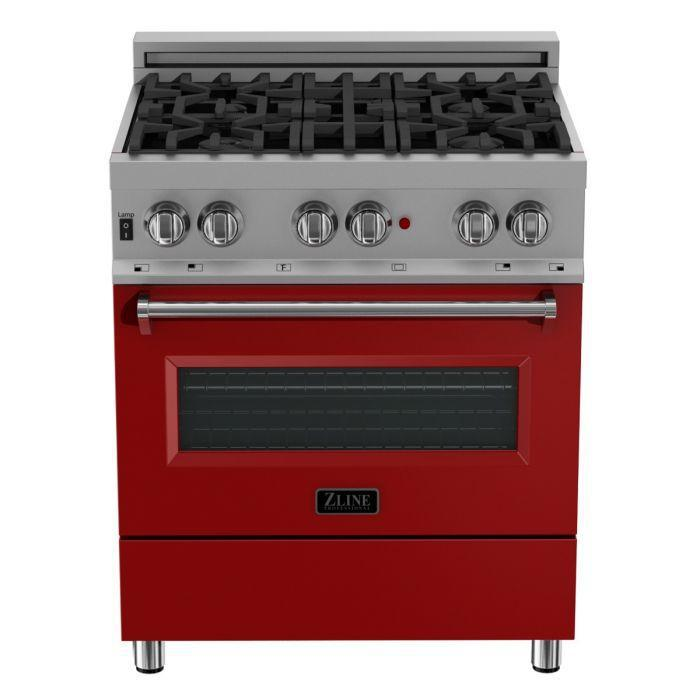 Zline 30 Quot Professional Dual Fuel Range In Snow Stainless