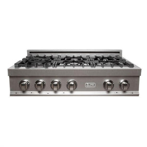 ZLINE 36 in. Rangetop in DuraSnow® Stainless Steel with 6 Gas Burners, RTS-36 test