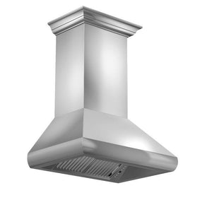 zline-stainless-steel-wall-mounted-range-hood-587crn-side-under test