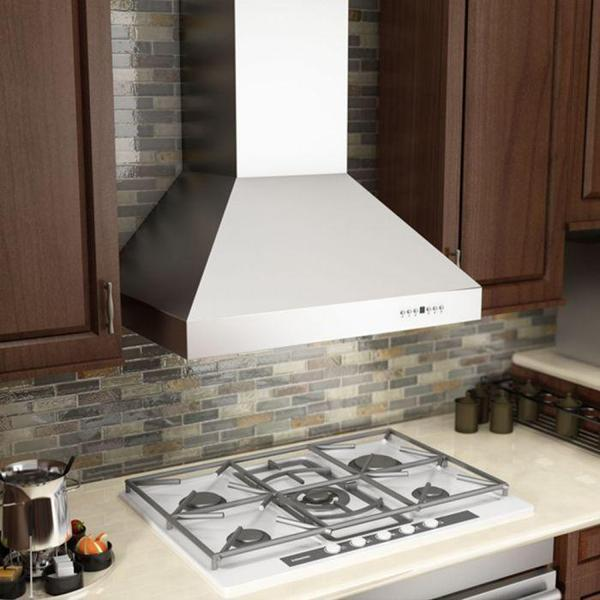 "ZLINE 42"" Professional Stainless Steel Indoor Wall Range Hood, 667-42"