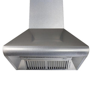 zline-stainless-steel-wall-mounted-range-hood-8687s-under test