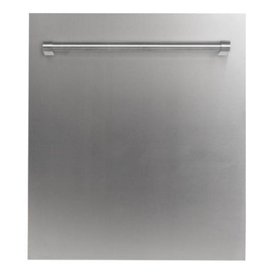 "ZLINE 24"" Top Control Dishwasher in Stainless Steel with Stainless Steel Tub and Traditional Style Handle, DW-304-H-24"