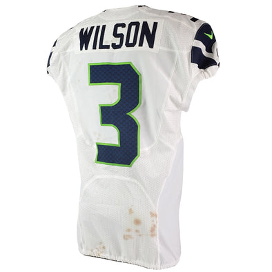 Russell Wilson 2015 Seattle Seahawks Game Worn Jersey
