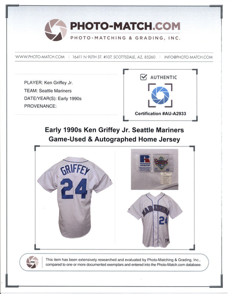 Ken Griffey Jr 1992 Seattle Mariners Game Worn Jersey Mystery Swatch Box