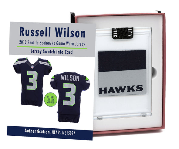 Russell Wilson 2012 Seattle Seahawks Game Worn Jersey Mystery Swatch Box