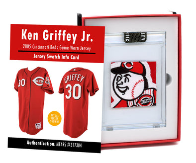 Ken Griffey Jr. 2005 Cincinnati Reds Game Worn Jersey Mystery Swatch Box