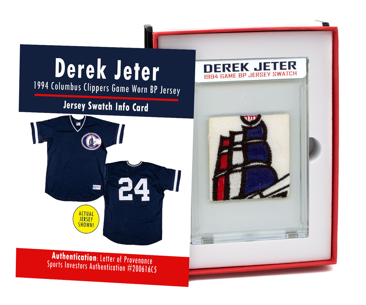 DEREK JETER 1994 CLIPPERS GAME WORN BP JERSEY MYSTERY SEALED SWATCH BOX!