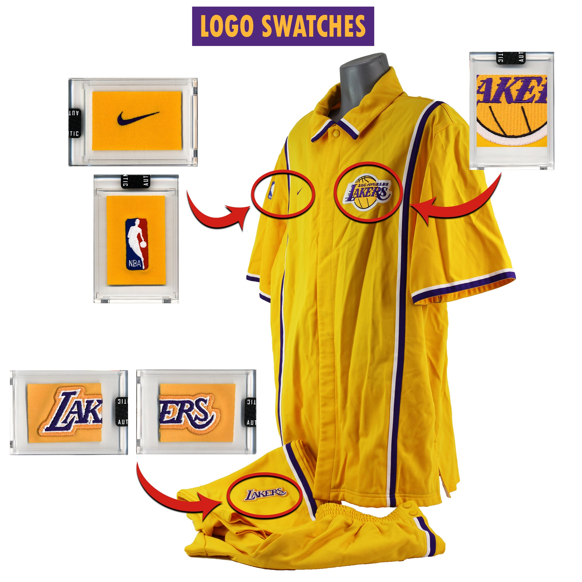 Kobe Bryant 1998-99 Game Worn L.A. Lakers Warm Up Suit Mystery Sealed Swatch Box