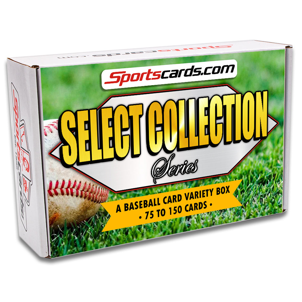 """Select Collection Series"" Baseball Card Variety Box – 75 to 150 Cards!"