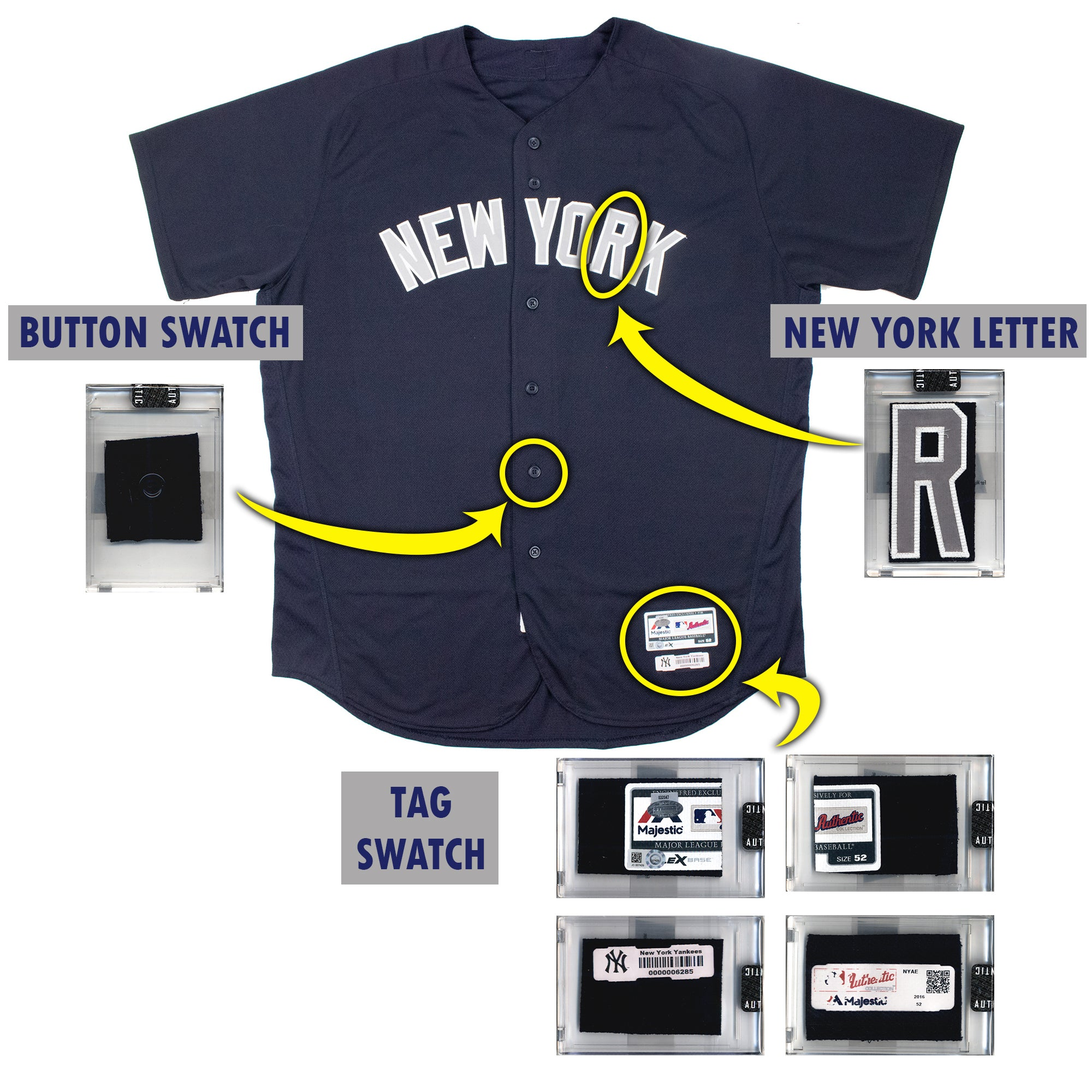 Aaron Judge 2016 NY Yankees Game Worn BP Jersey Mystery Sealed Swatch Box